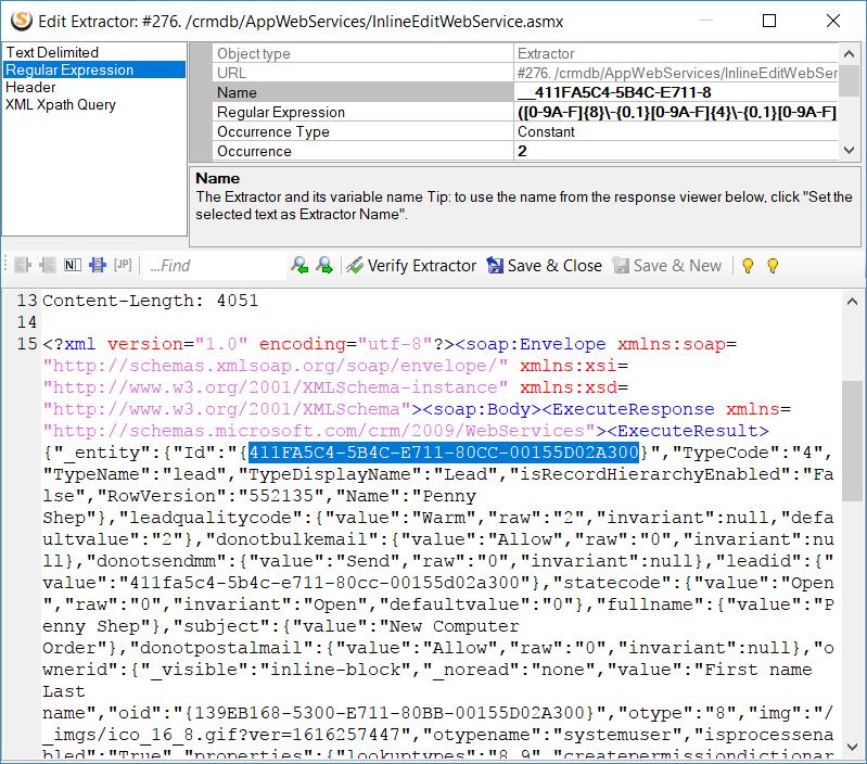Entity ID Extractor Editor